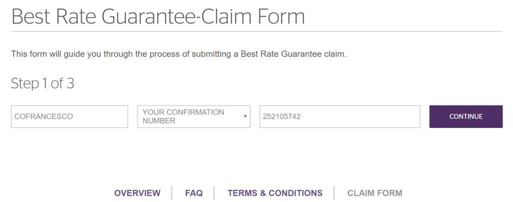 The online claim form is fairly straightforward, and easy to complete.