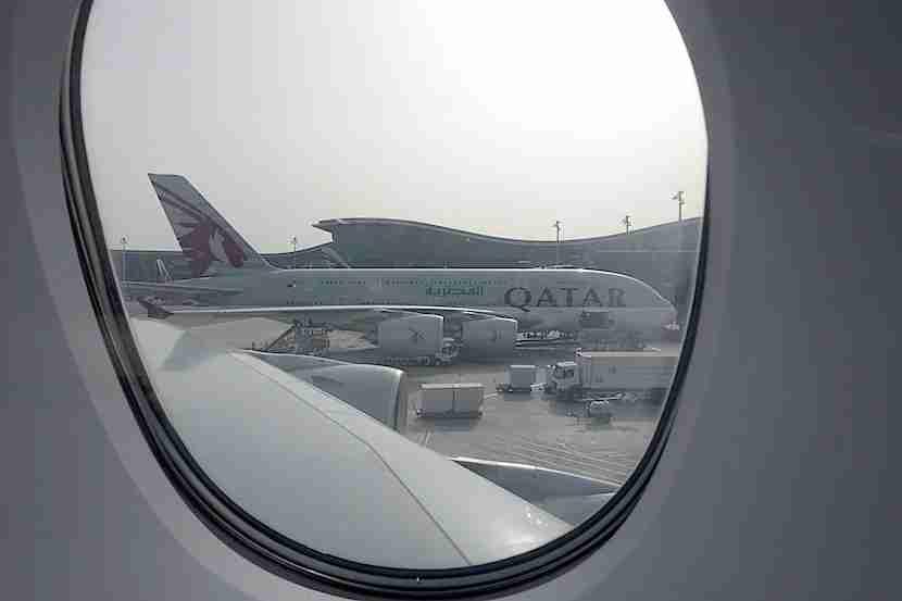 A380 plane window