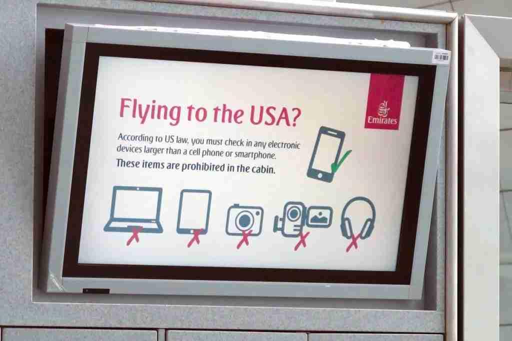 electronics ban