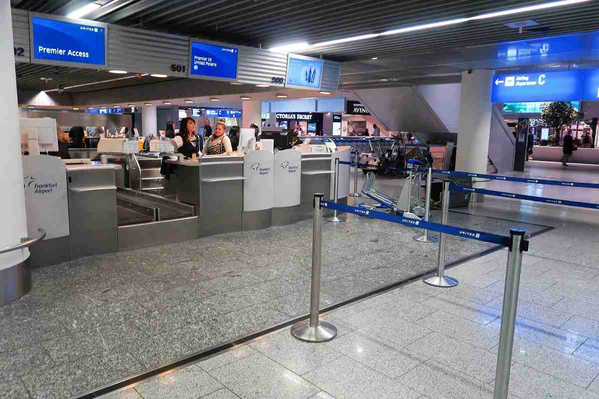 Frankfurt Airport FRA United Polaris check-in