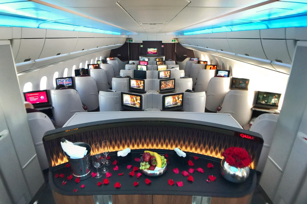 Business class on Qatar
