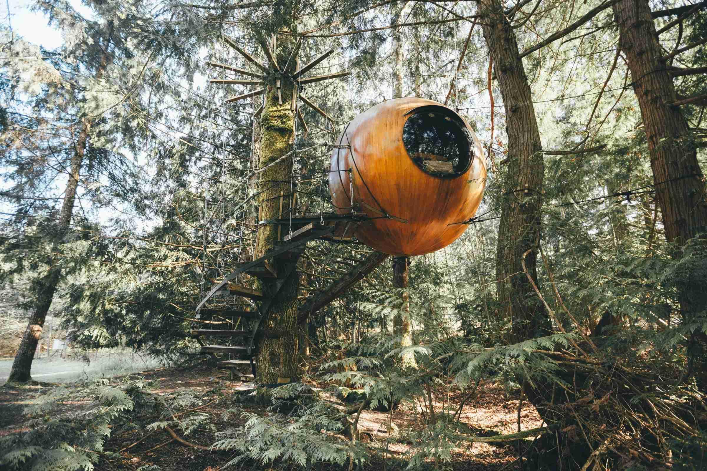 Free Spirit Spheres. Photo Courtesy of K.Kemsley.