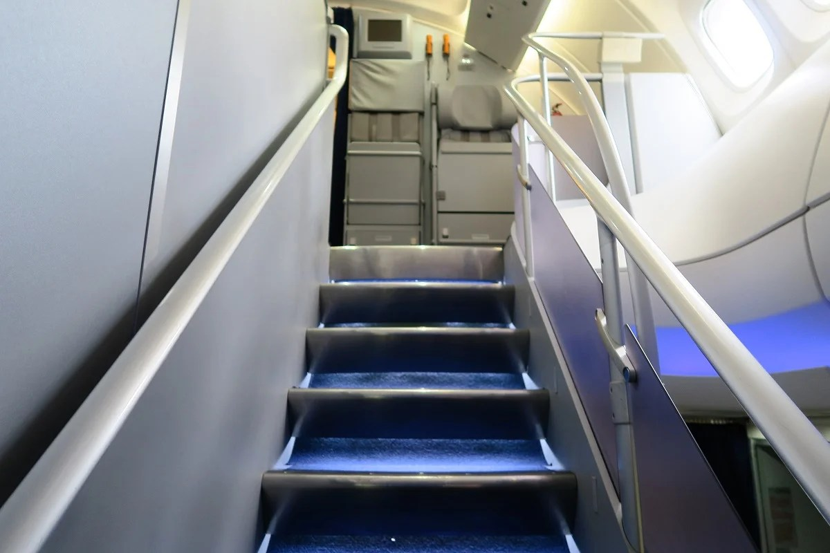 Flight Review Lufthansa 747 8 Business Dc To Frankfurt Always Help Staircase Diagram East Coast Stairs Company Inc 748