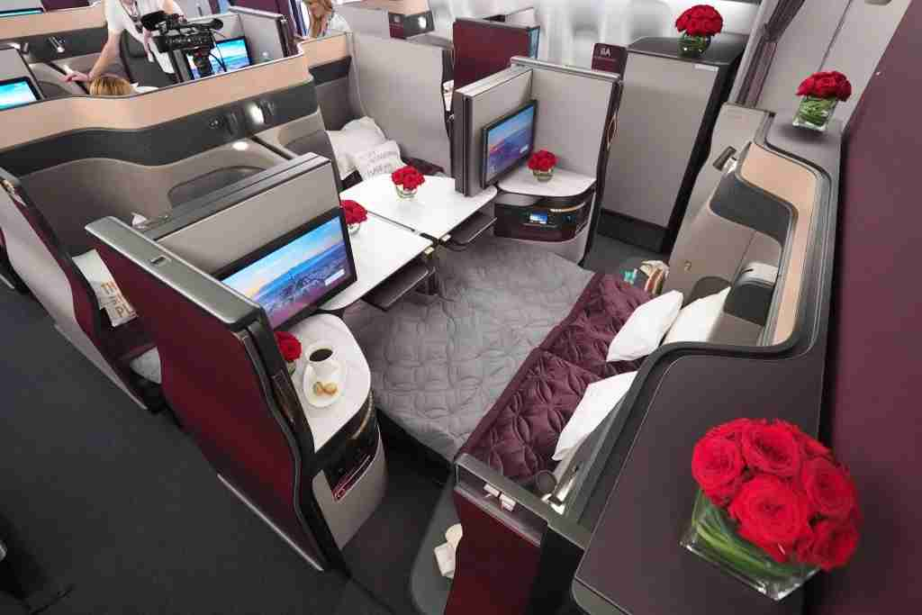 Buy enough miles to try out Qsuites between Europe and Doha for just $___.
