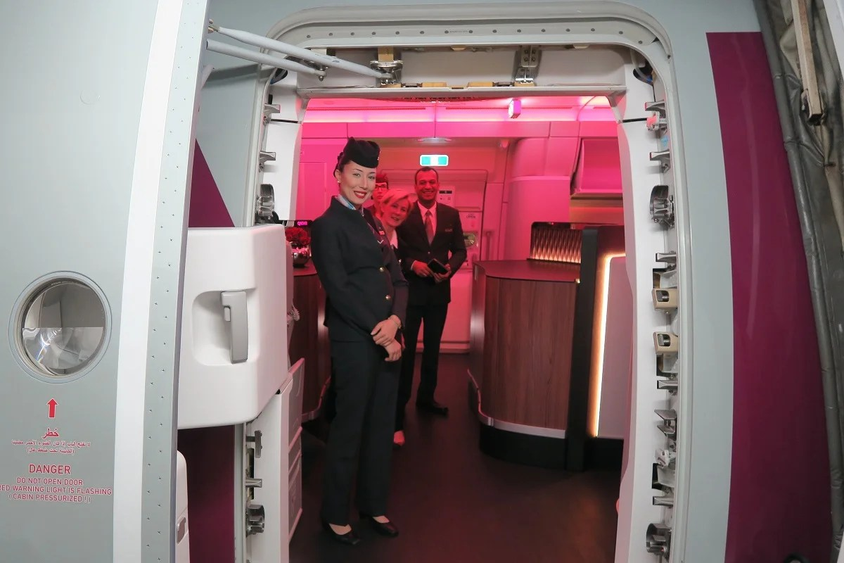Qatar A350 BOS boarding door?fit=2048%2C2048px&ssl=1 flight review qatar (a350 900) business, boston to doha  at gsmx.co