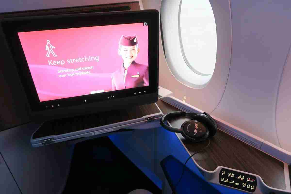Qatar A350 IFE tips
