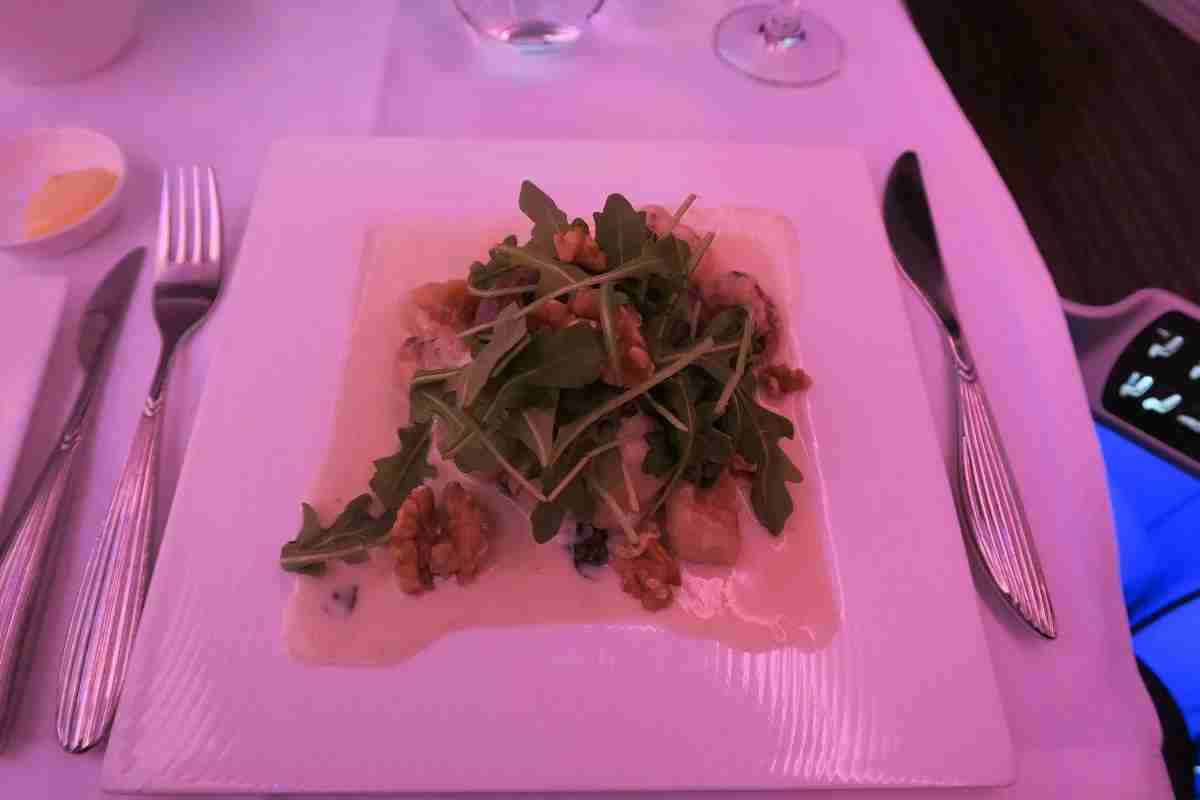 Qatar A350 business gnocchi