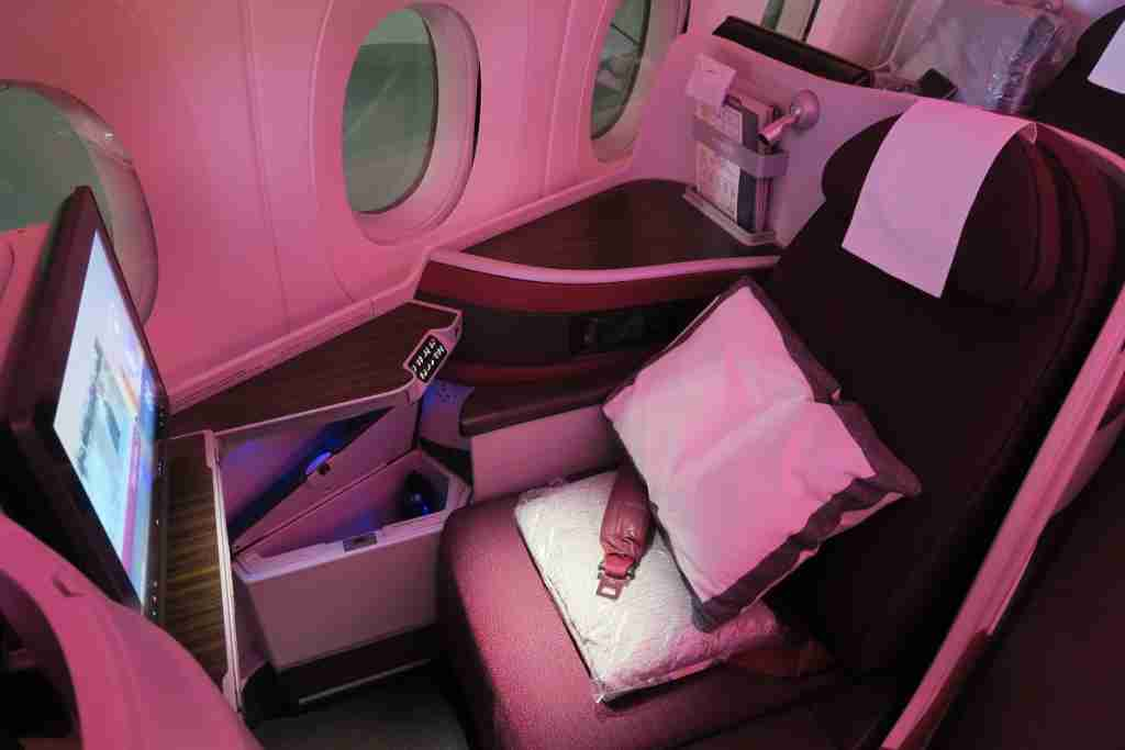 Qatar A350 business standard window seat
