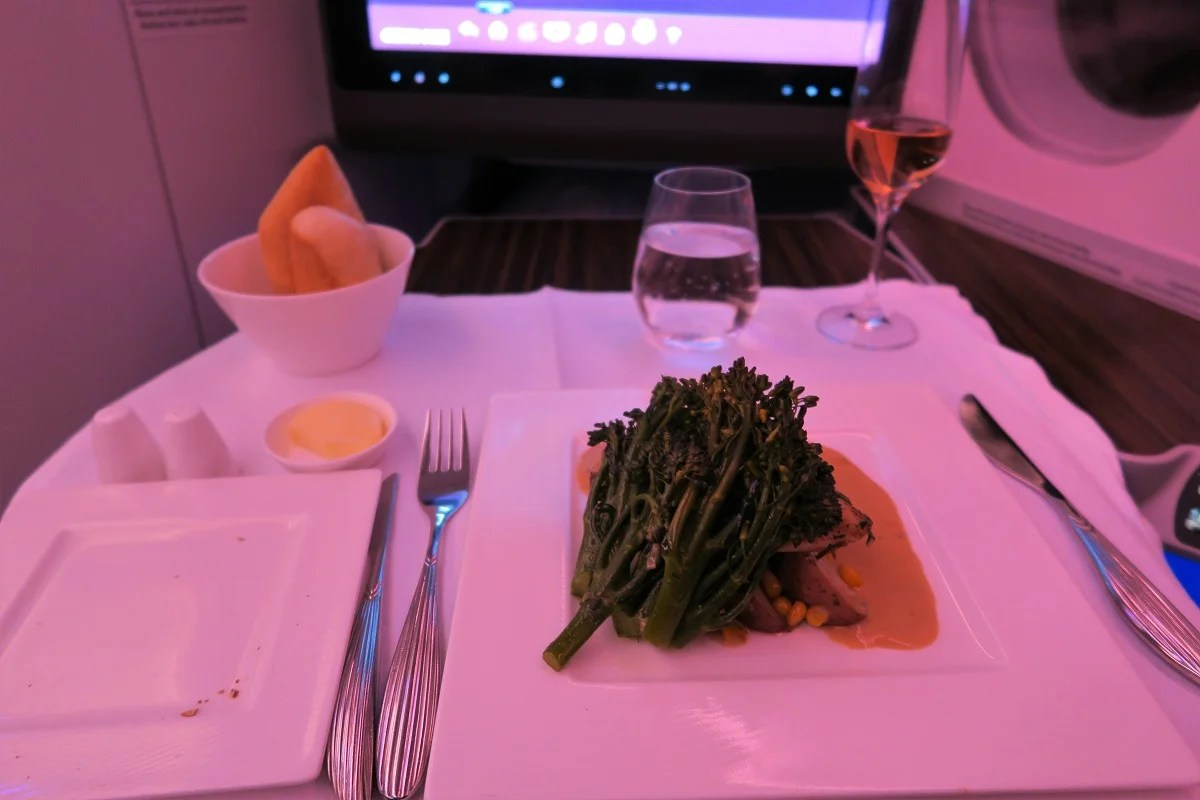 Qatar A350 chicken main?fit=2048%2C2048px&ssl=1 flight review qatar (a350 900) business, boston to doha  at gsmx.co