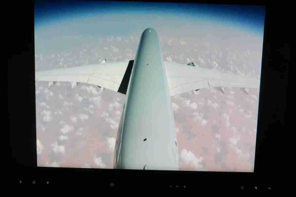 Qatar A350 tail camera