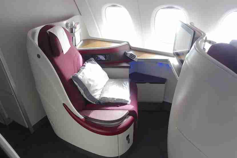Qatar side seat back