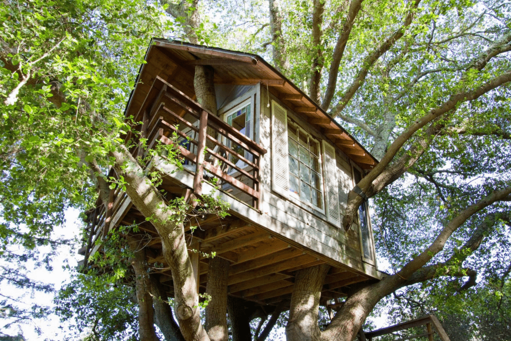 This minimalist tree house is located 11 minutes from SFO. Photo courtesy of Airbnb.