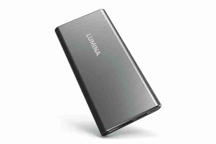 Lumina 15000 mAh Ultra Compact Portable Charger 2-Port External Battery Power Bank