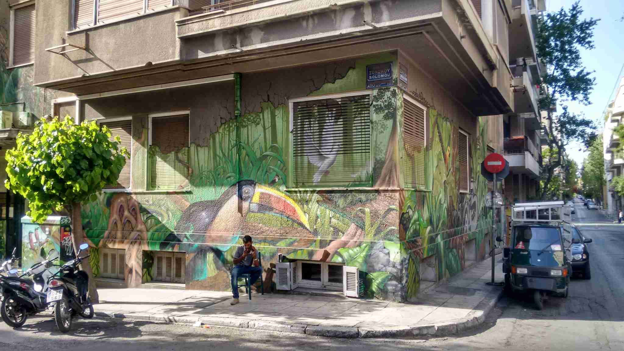 Athens has a vibrant street art scene, accelerated by the ongoing fiscal crisis. For the best, stroll around the often overlooked Exarcheia neighborhood.