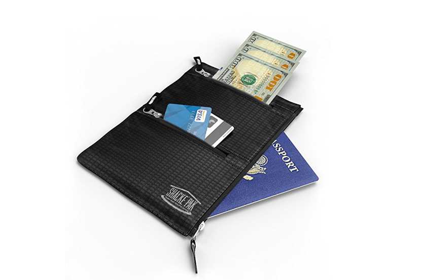 Shacke Hidden Travel Belt Wallet w/ RFID Blocker