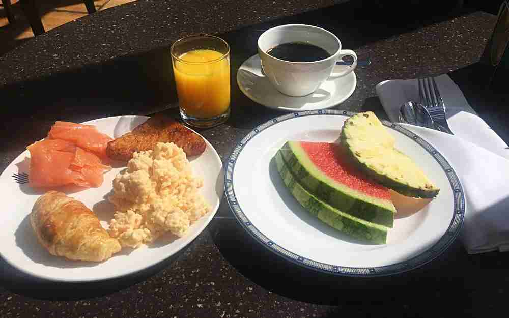 My breakfast on the Terrace Grill (not the lounge) at an extra cost.