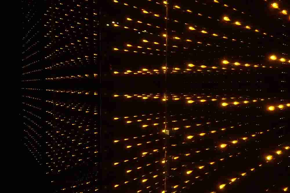 The elevator lighting.