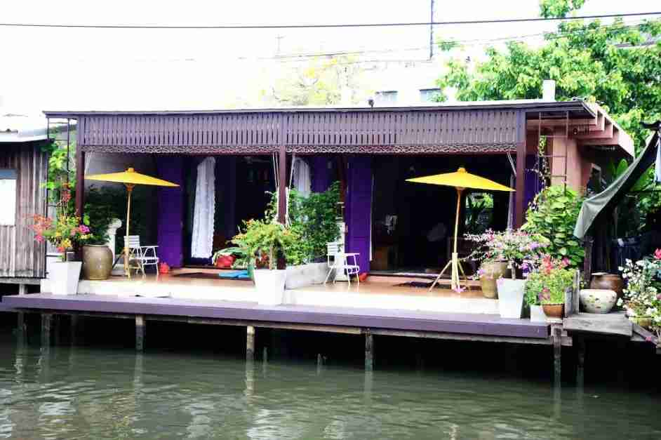 Get bonus points for your Airbnb houseboat stay in Bangkok.