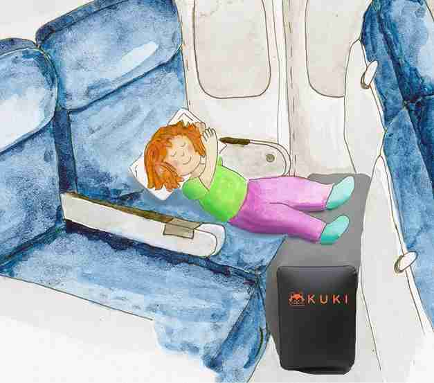 Inflatable Leg Rest on Airplanes
