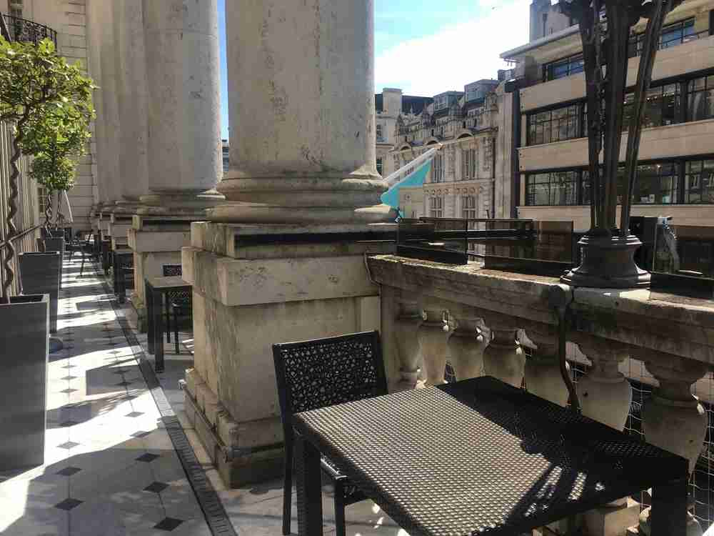 The terrace where you could relax for afternoon tea.