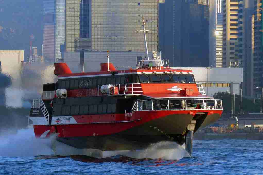 A TurboJET ferry in Hong Kong en route to Macau. Image courtesy of Bernard Spragg. NZ via Flickr.