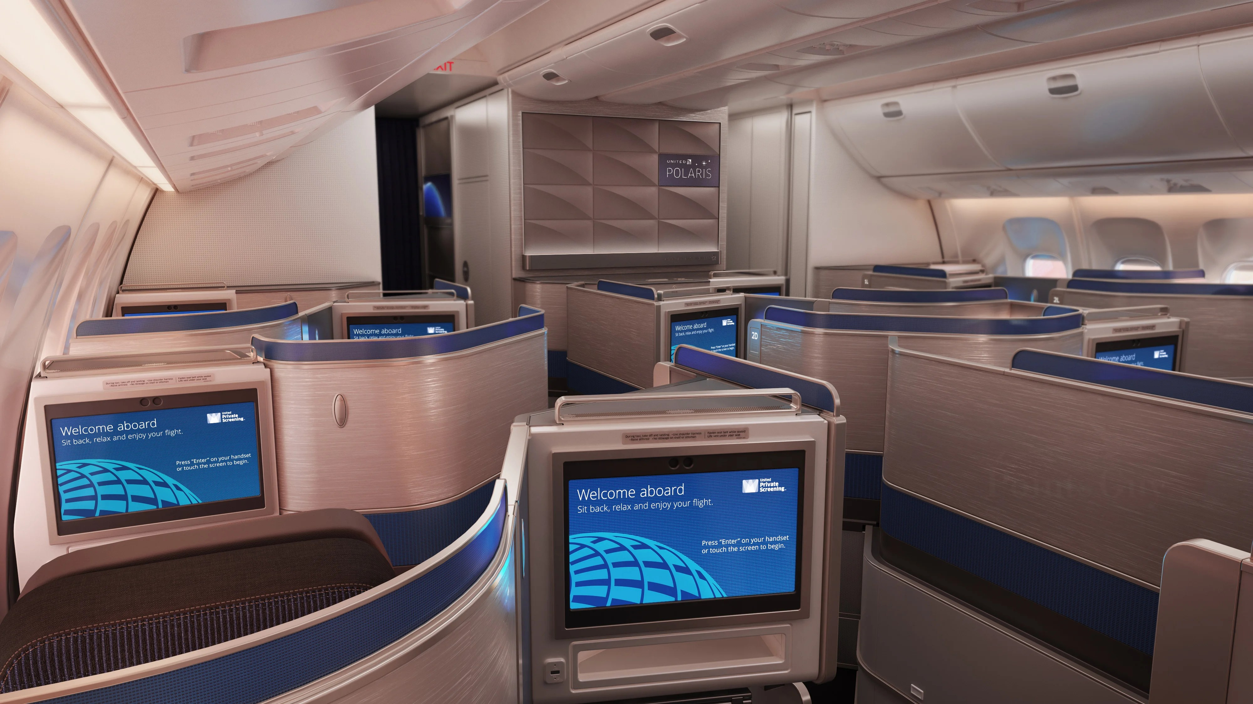 First Look United S New Polaris Business Seats On The 767