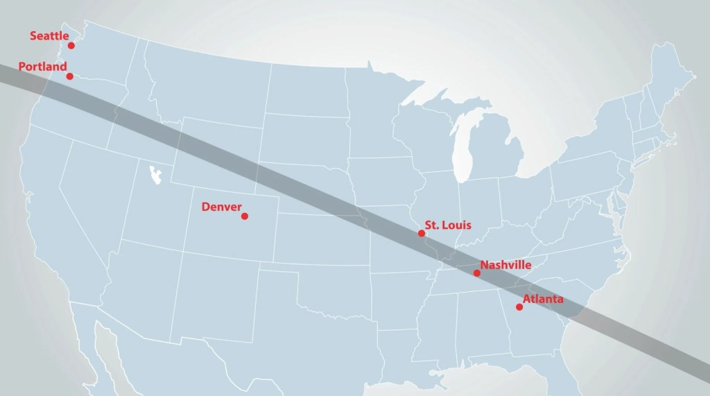 How You Can Watch The Great Solar Eclipse From A Plane - Southwest flight map us