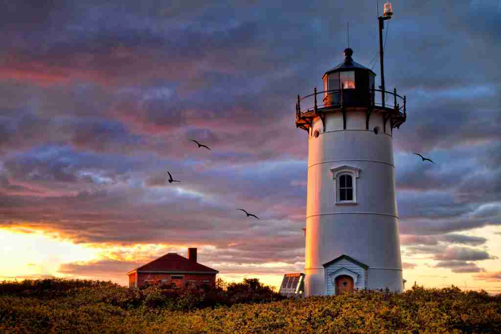 Clearing storm and dramatic skies at Race Point Lighthouse on Cape Cod. (Photo courtesy of Getty Images)
