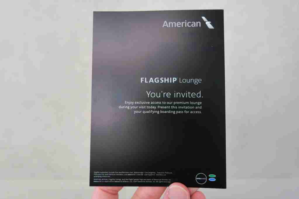 AA ORD Flagship Lounge - invitation card