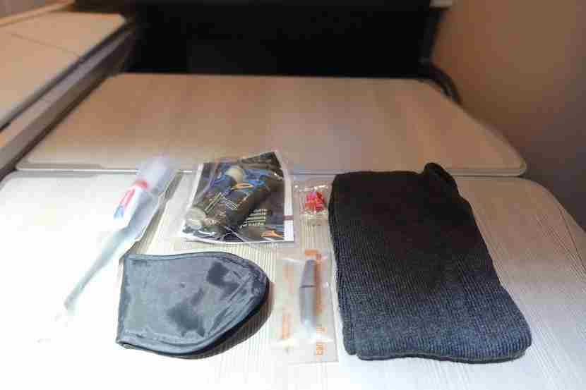 Air Canada amenity kit contents