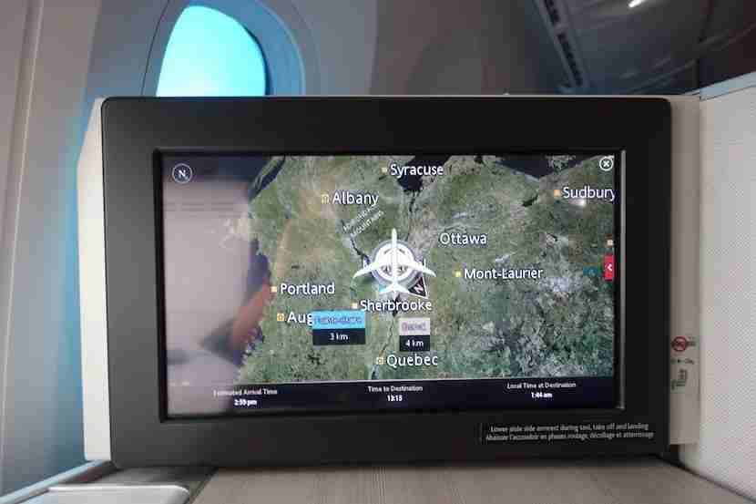 Air Canada map