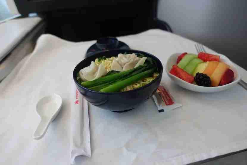 Air Canada noodle soup