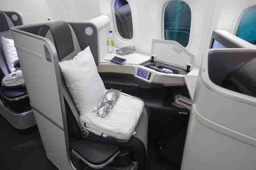 Air Canada side seat 2