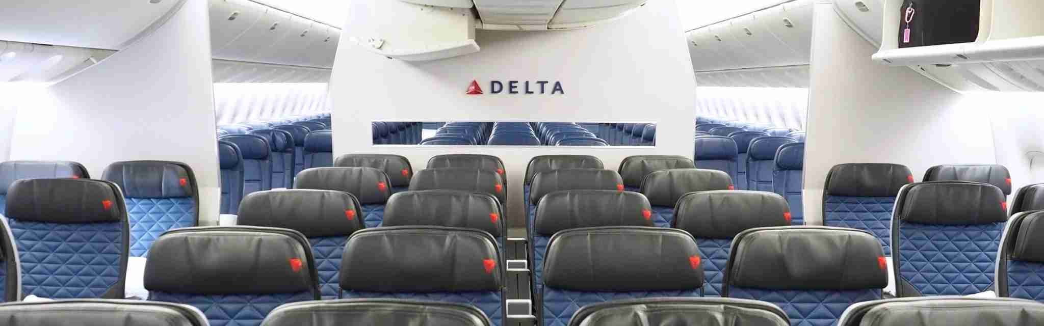 Delta's Premium Select cabin onboard a retrofitted Boeing 777-200ER