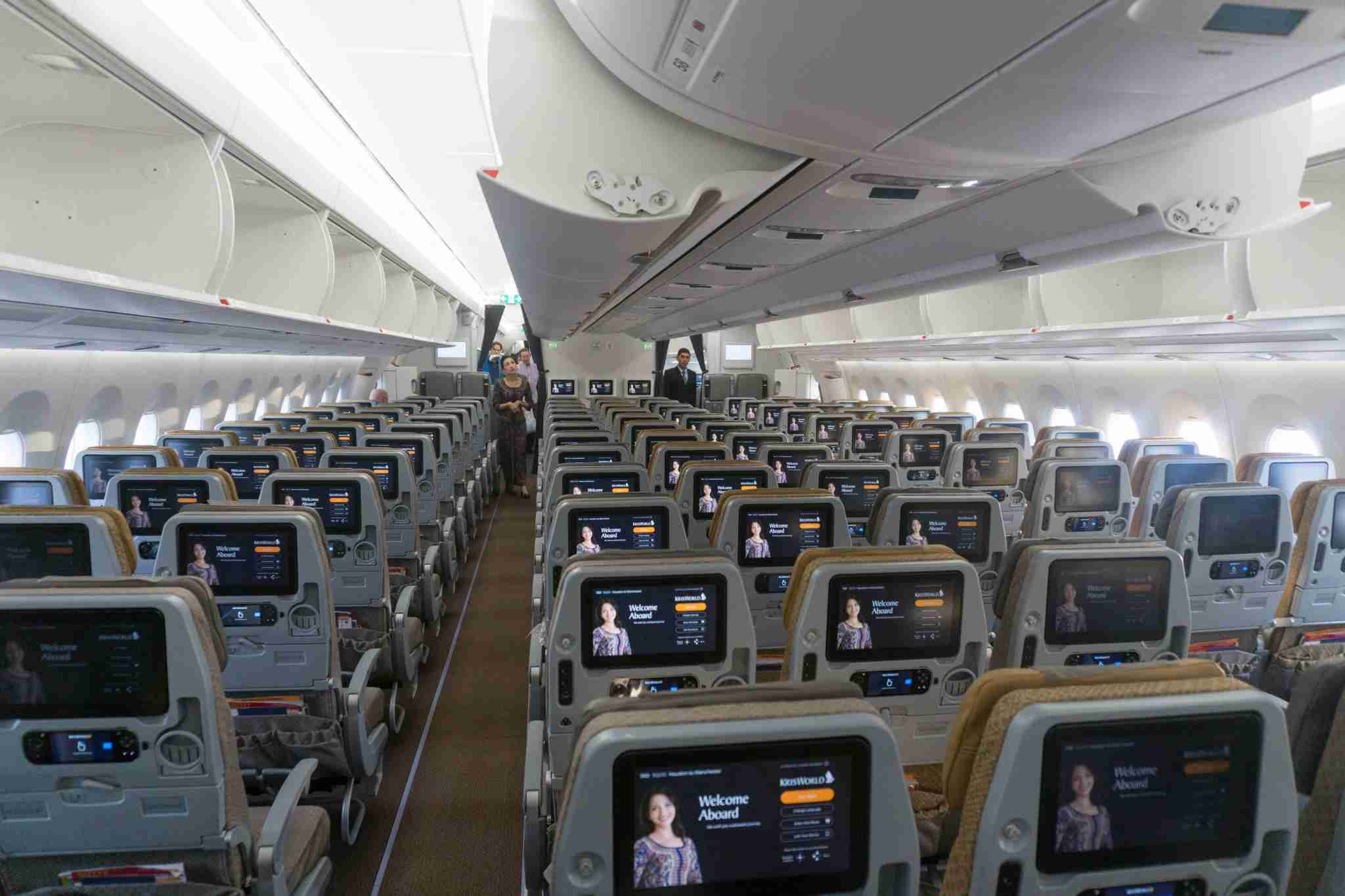 SQ 51 Economy Cabin Rear View