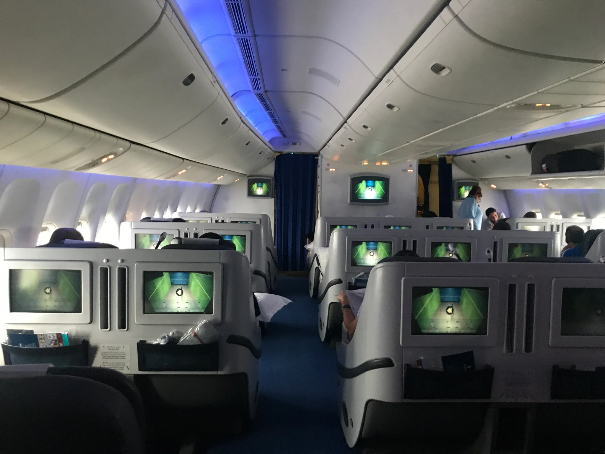 EgyptAir (777-300ER) Business Class Flight, JFK to Cairo