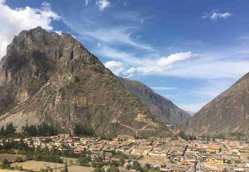 Can you spot the face to the left of the terraced ruins in the mountain? Image by Lori Zaino.