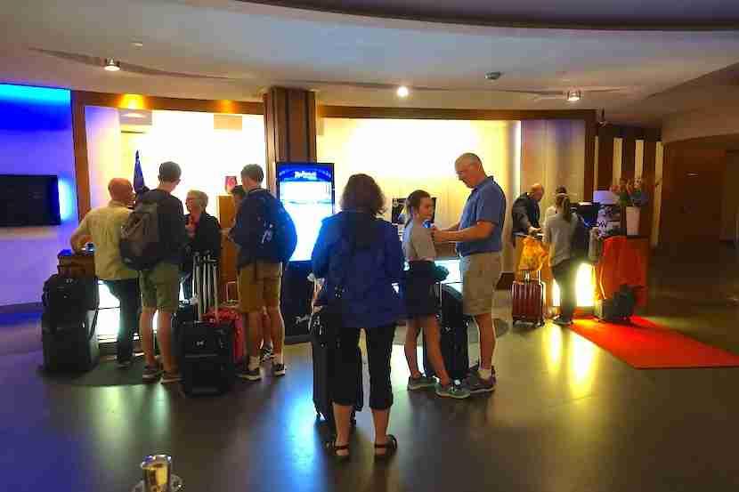 Radisson Blu Royal Viking reception line