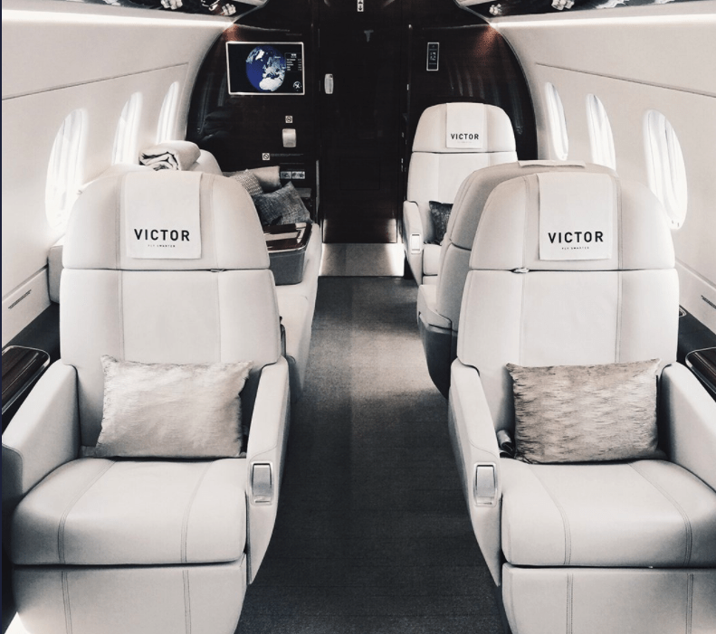 The interior of a Victor jet (Photo by Victor)