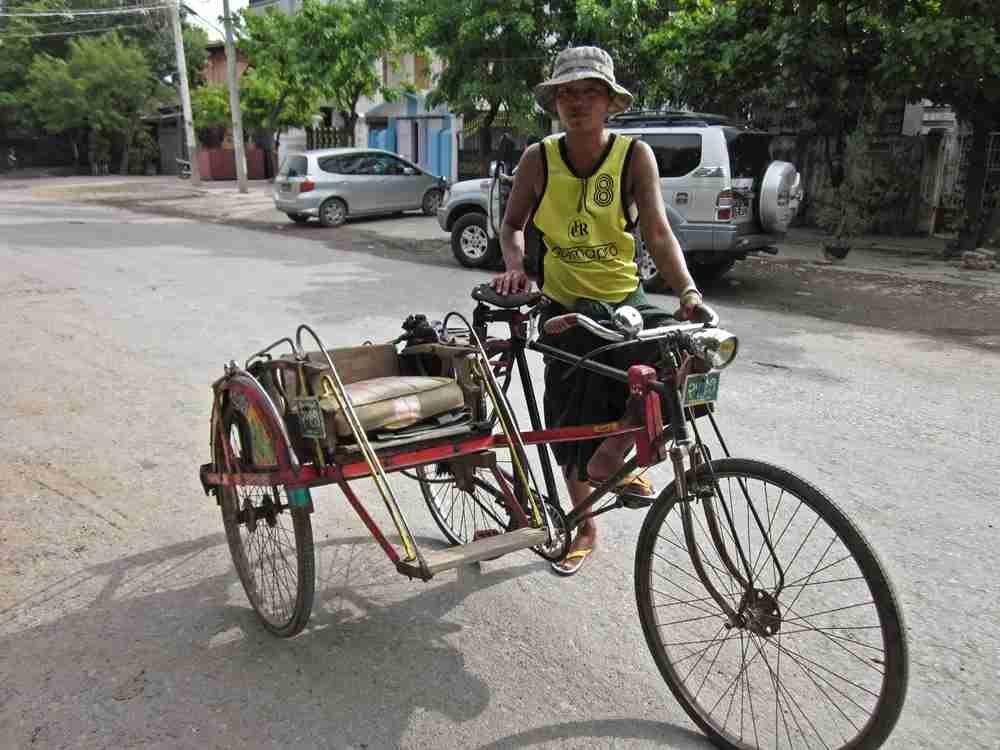 This rickshaw day tour of Mandalay, Myanmar cost me just $2.