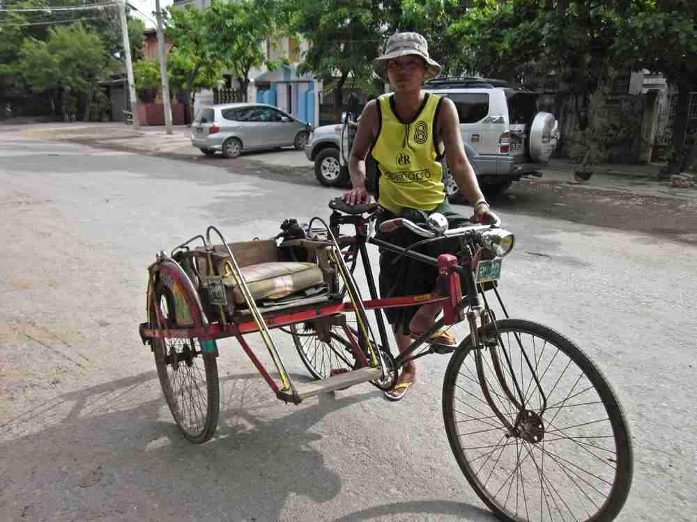 This rickshaw day tour of Mandalay, Myanmar cost me just $2.