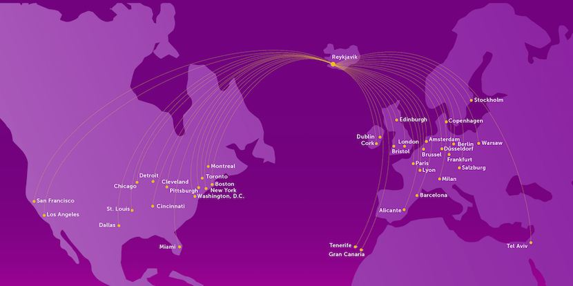Low-cost carriers like WOW are expanding their route networks monthly.