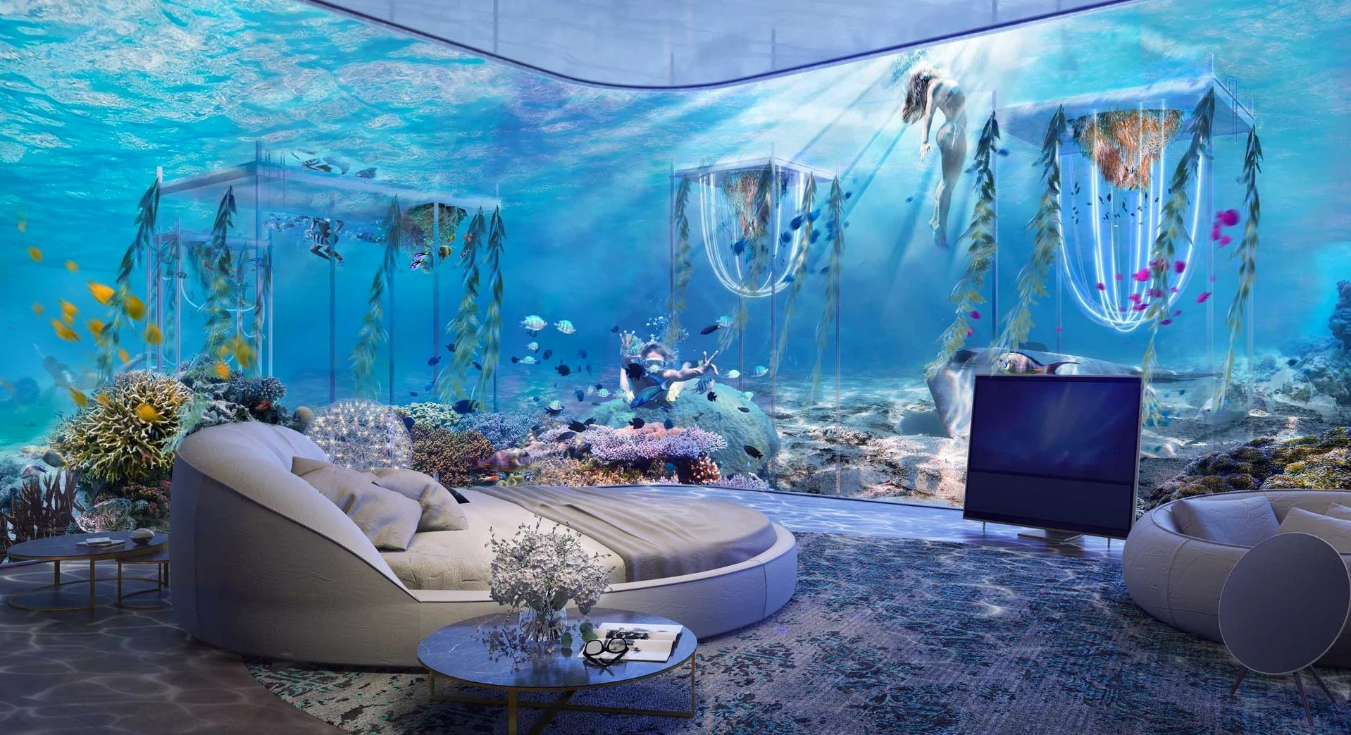 world s first underwater luxury vessel resort coming to dubai the floating venice2
