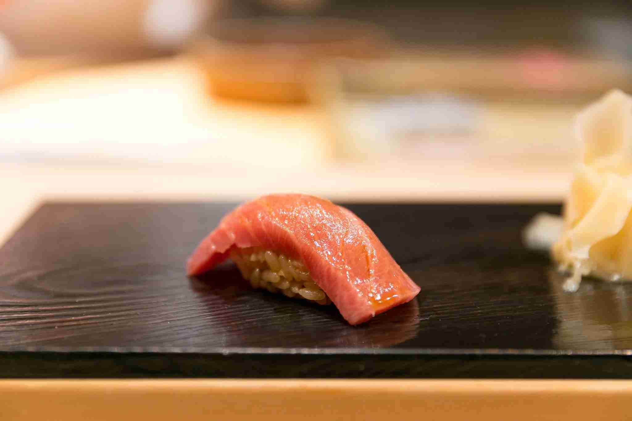 Tokyo is the place to get some deliciously tender <em>otoro</em>, or tuna-belly, sushi. Image by City Foodsters/Flickr.