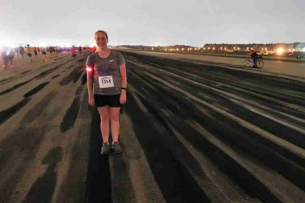 ATL 5K on the Runway tire marks