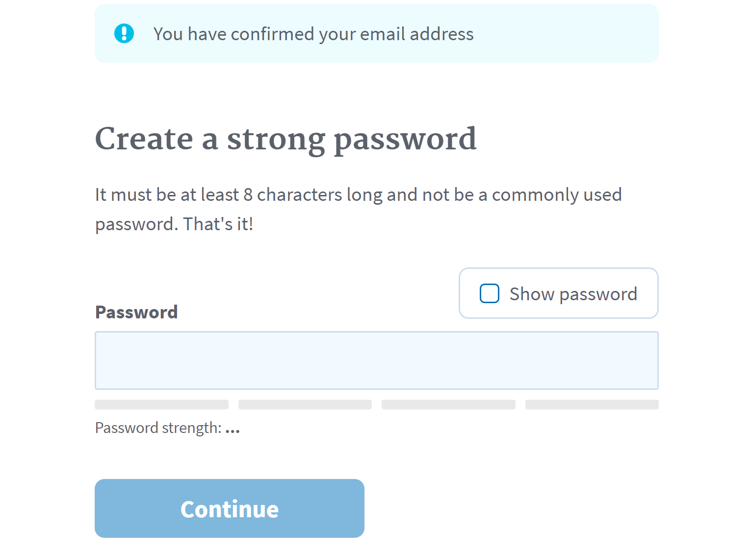 DHS password