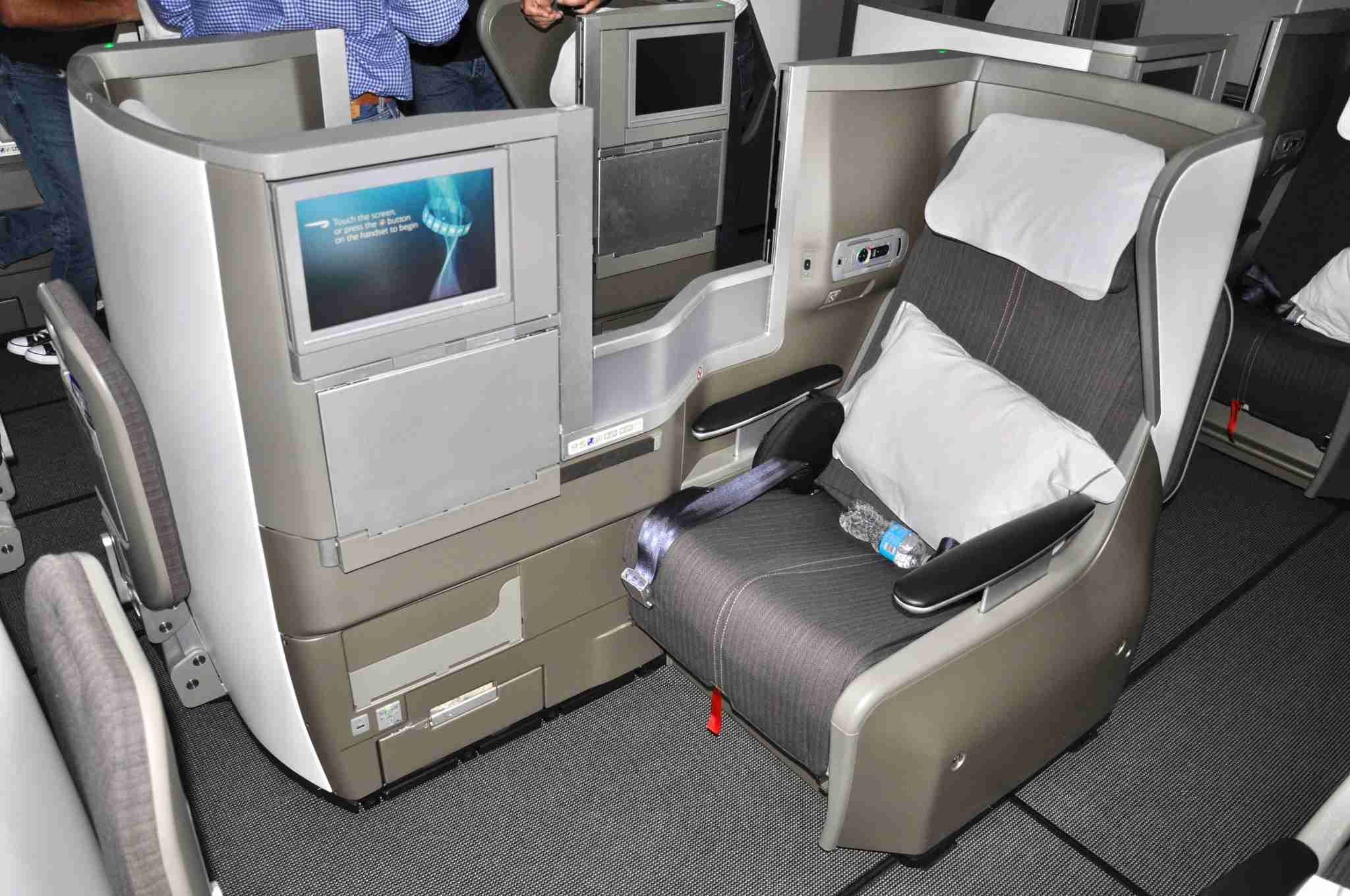 A Club World (business class) seat onboard our delivery flight. Photo by Paul Thompson