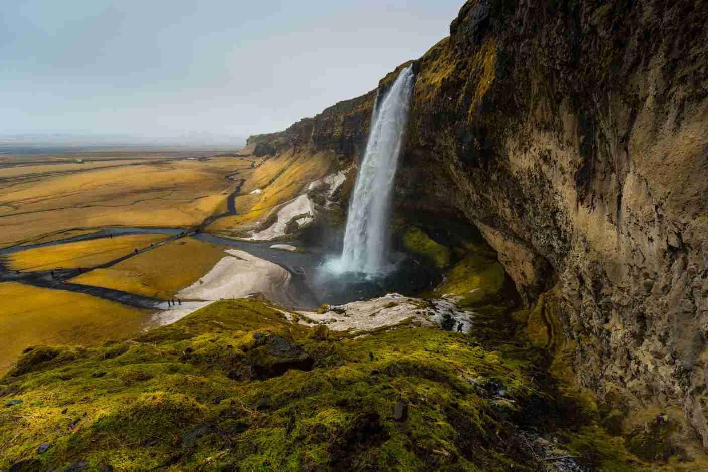 Winter landscape of Seljalandsfoss waterfall, Iceland. Photo by paranyu pithayarungsarit / Getty Images.