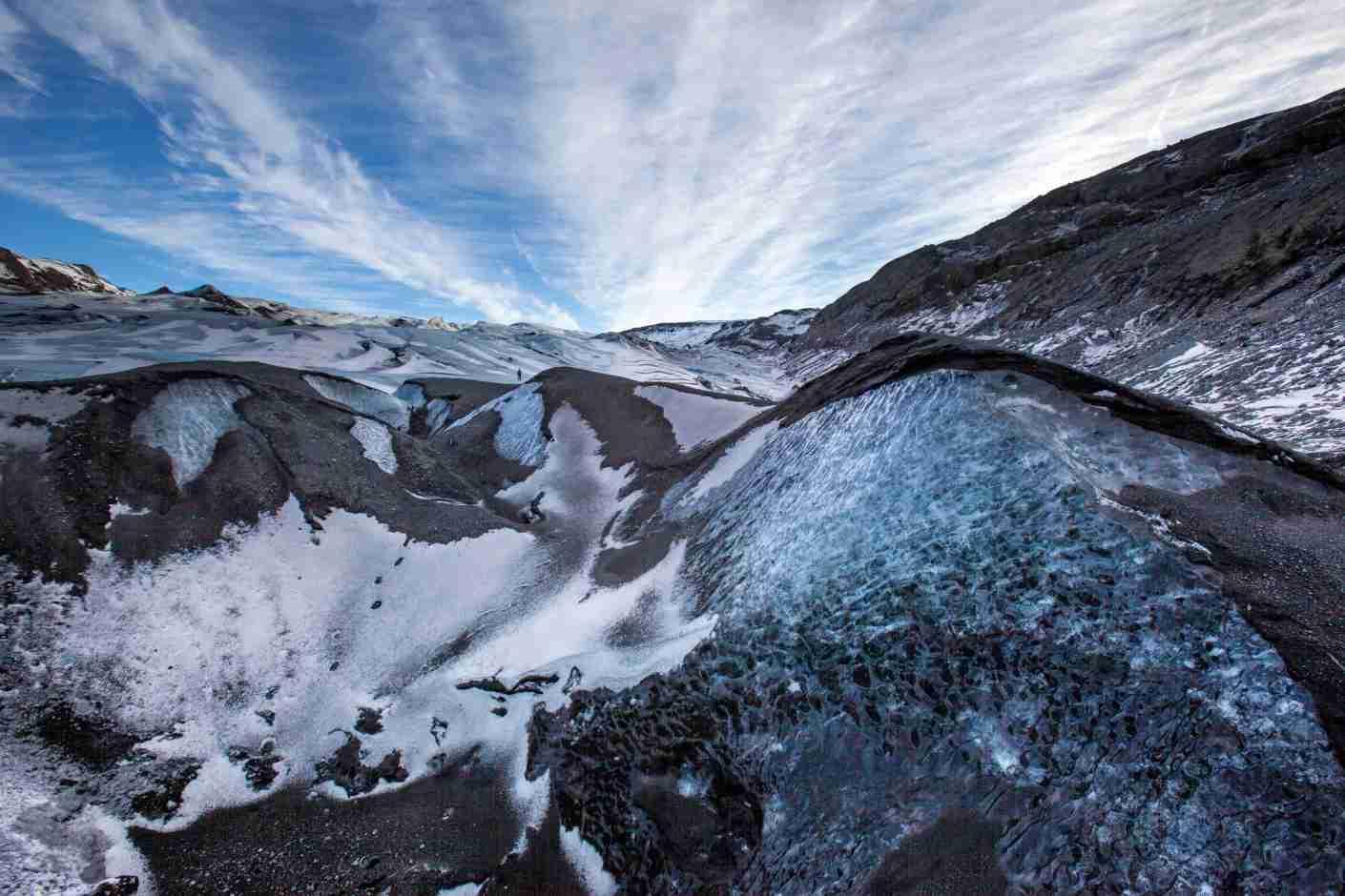 Photo of Sólheimajökull Glacier by Snorri Gunnarsson / Getty Images.