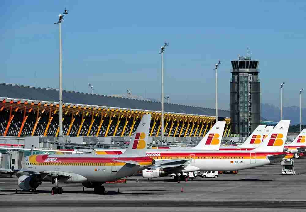 Iberia planes at Terminal 4 in MAD. Image by Jasper Juinen/Getty Images.